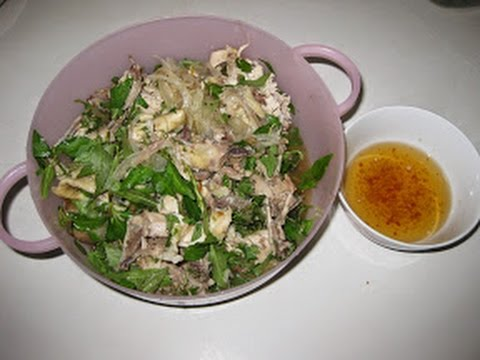 Chicken Rice Soup and Chicken Pickled Salads (Chao Ga Goi Ga)